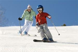 esquiar con niños en suiza