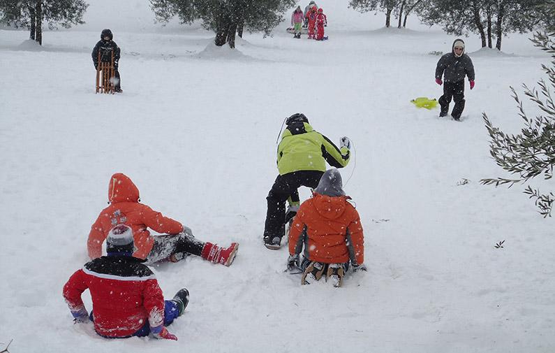 Vacaciones en invierno con niños